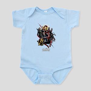 Avengers Infinity War Fight Baby Light Bodysuit