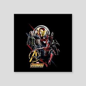 "Avengers Infinity War Fight Square Sticker 3"" x 3"""