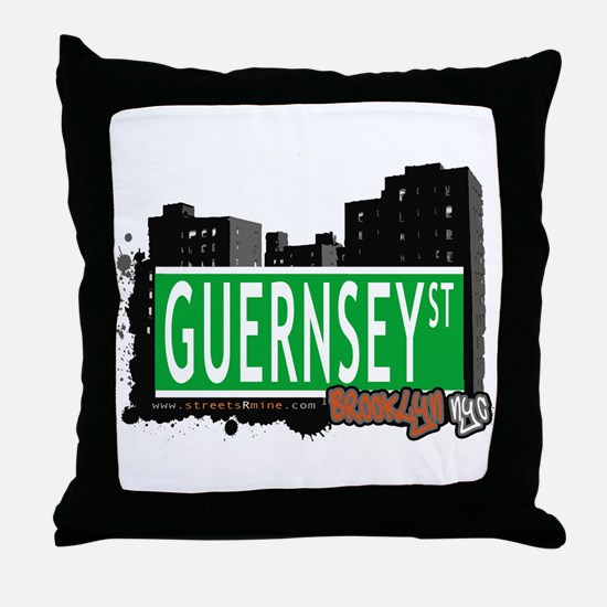 GUERNSEY ST, BROOKLYN, NYC Throw Pillow