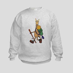 Cute llama Hikiing Sweatshirt