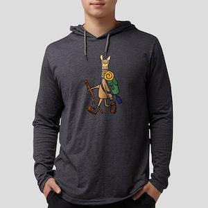 Cute llama Hikiing Long Sleeve T-Shirt