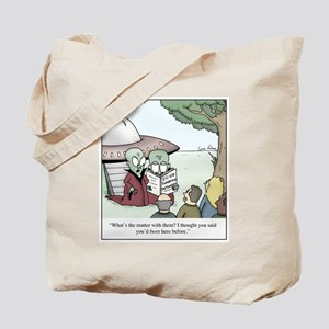 Ancinet Aliens Dictionary Cartoon Tote Bag