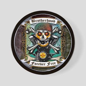 BROTHERHOOD FOREVER FREE Wall Clock