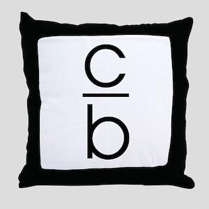 """""""C Over B"""" Throw Pillow"""