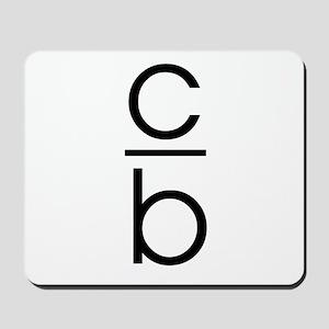 """C Over B"" Mousepad"