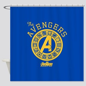 Avengers Infinity War Circle Shower Curtain