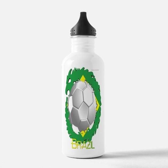 Brazil Soccer Dragon Water Bottle