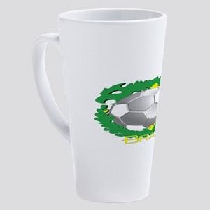 Brazil Soccer Dragon 17 oz Latte Mug