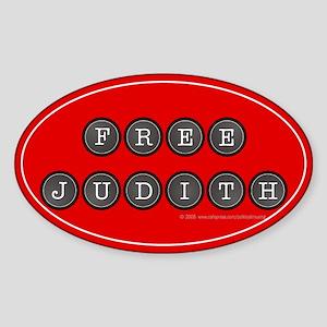 Free Judith Miller Oval Sticker