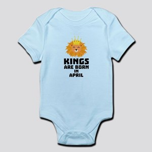 Kings are born in APRIL C723w Body Suit