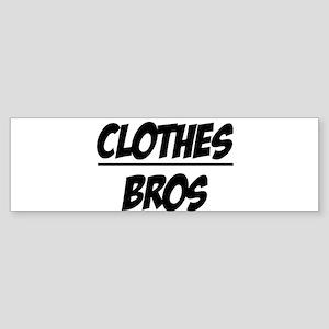 """Clothes Over Bros"" Bumper Sticker"