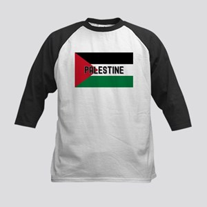 Palestinian Flag (labeled) Kids Baseball Tee