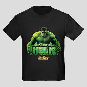Avengers Infinity War Hulk Kids Dark T-Shirt
