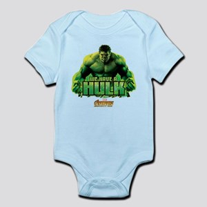 Avengers Infinity War Hulk Baby Light Bodysuit