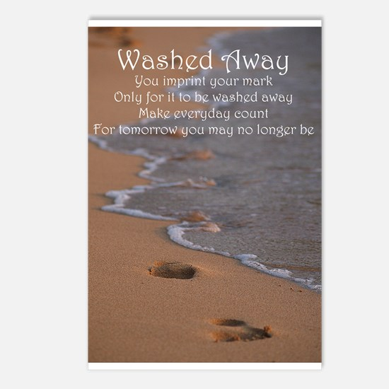 Footprints - Washed Away Postcards (Package of 8)