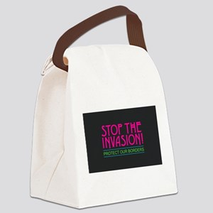 Stop the Invasion Canvas Lunch Bag