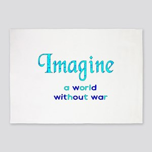 Imagine Peace 5'x7'Area Rug