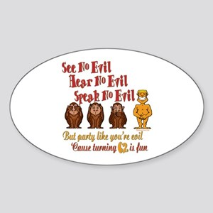 Party 62nd Oval Sticker