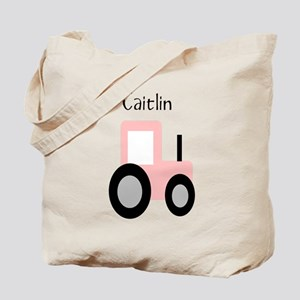 Caitlin - Pink Tractor Tote Bag