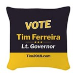 Tim 2018 - Vote Woven Throw Pillow