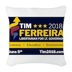 Tim 2018 - Sign Woven Throw Pillow