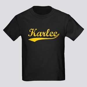 Vintage Karlee (Orange) Kids Dark T-Shirt