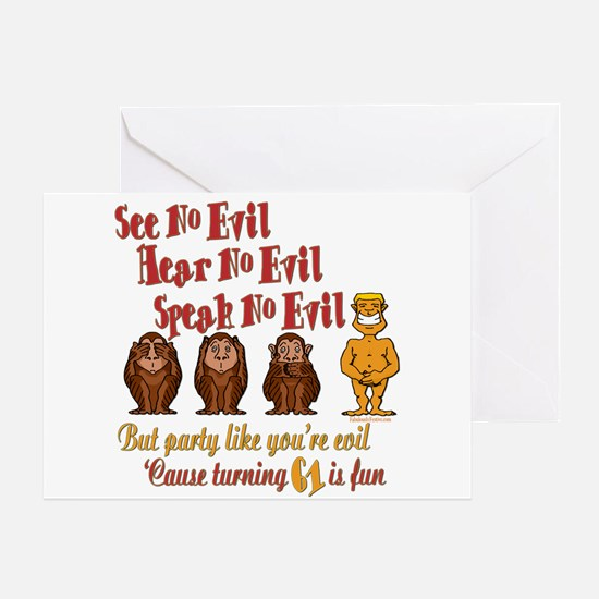 Party 61st Greeting Card