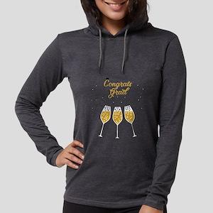 congrats grad champagne Long Sleeve T-Shirt