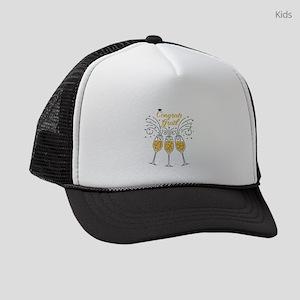 congrats grad champagne Kids Trucker hat