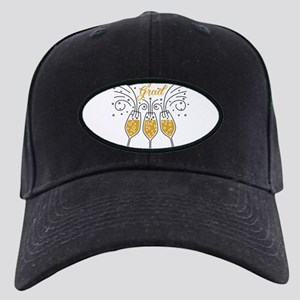 congrats grad champagne Black Cap with Patch