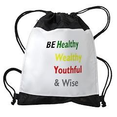 BE Healthy Drawstring Bag