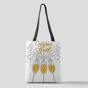 congrats grad champagne Polyester Tote Bag