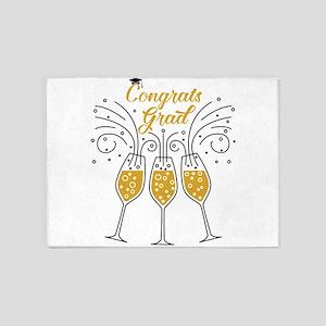 congrats grad champagne 5'x7'Area Rug