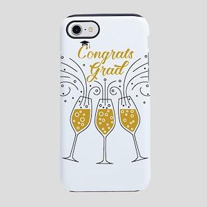 congrats grad champagne iPhone 8/7 Tough Case