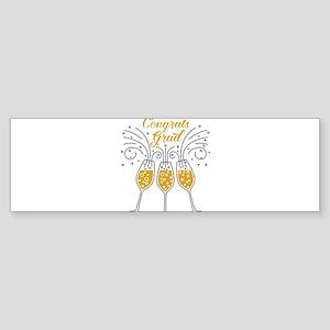 congrats grad champagne Bumper Sticker