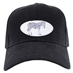 Spotted Zebra Black Cap With Patch