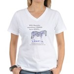 Women's Spotted Zebra V-Neck T-Shirt