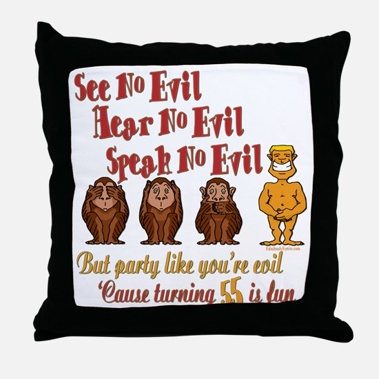 Party 55th Throw Pillow