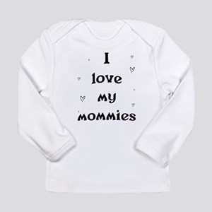 ILoveMyMommiesSmallHearts Long Sleeve T-Shirt