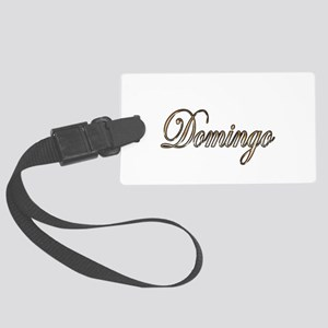 Gold Domingo Large Luggage Tag