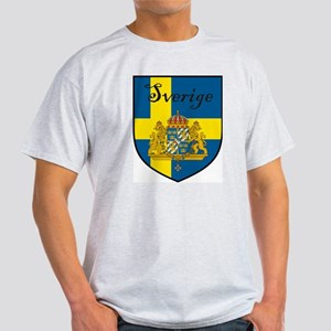 Sverige Flag Crest Shield White T-Shirt