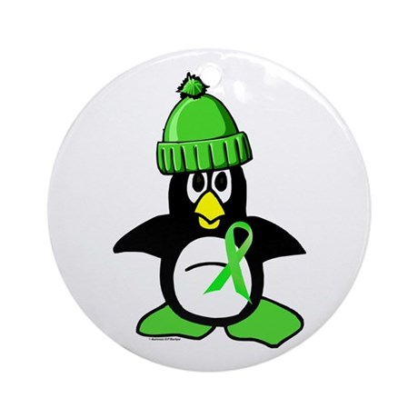 Winter Penguin 1 Non-Hodgkins Lymphoma Ornament (R