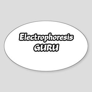 """Electrophoresis Guru"" Oval Sticker"