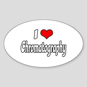 """""""I Love Chromatography"""" Oval Sticker"""