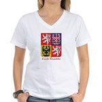 Czech Republic Women's V-Neck T-Shirt