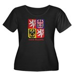 Czech Republic Women's Plus Size Scoop Neck Dark T