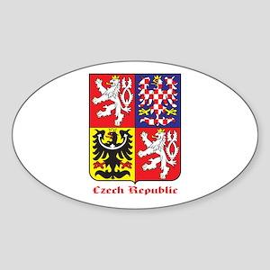 Czech Republic Sticker (Oval)