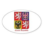 Czech Republic Sticker (Oval)