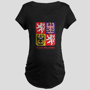 Czech Republic Maternity Dark T-Shirt