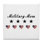 Proud Military Mom Tile Coaster